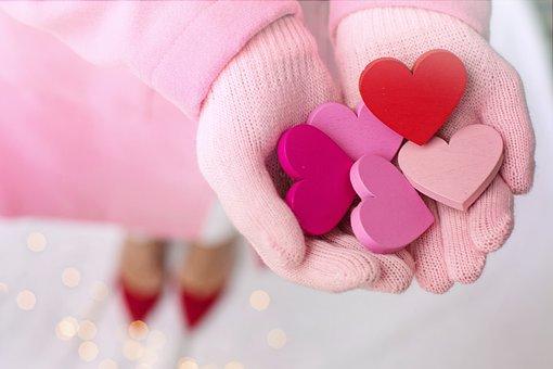 Valentine's Day, Valentine, Hearts, Hands Holding, Love