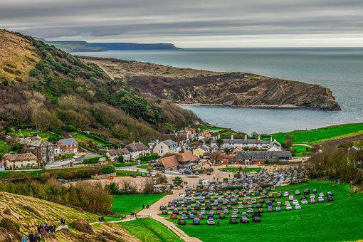 Lulworth Cove, Landscape, Village, Architecture