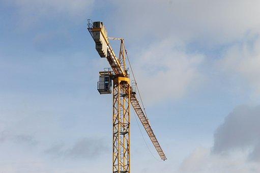 Construction, Crane, Machine, Architecture, Building