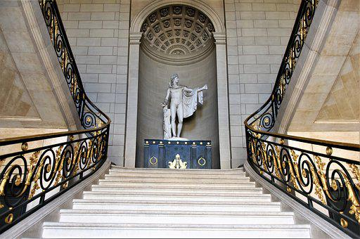 Castle, Compiègne, France, Staircase, Grand, Marble