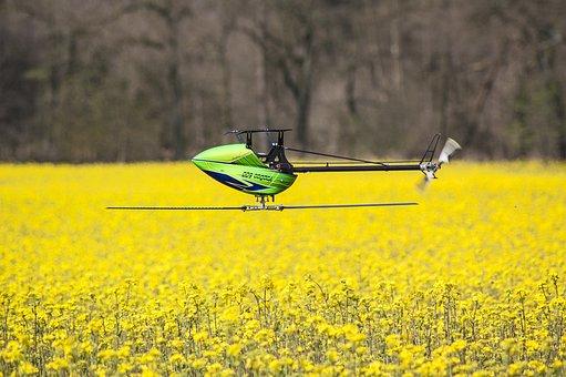 Model Helicopter, Voodoo 600, Cornfield