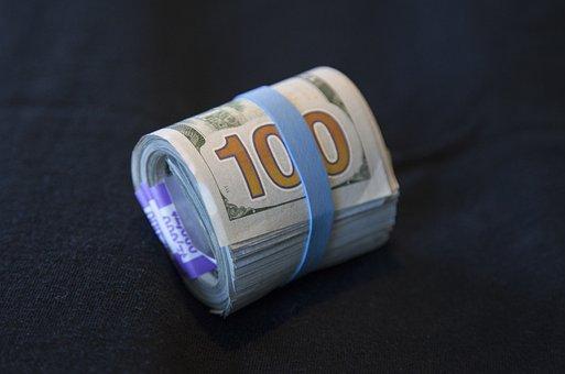 Money, Cash, Currency, Wealth, Hundred Dollar Bill