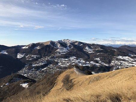 Monte Generoso From The Mount, Sertore, Alpine Route