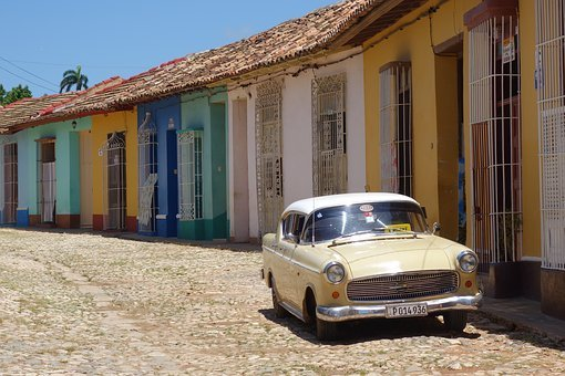 Trinidad, Cuba, Classic Car, Old Car, 50's Car