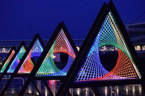 Lights, Colors, Installation, Toronto, Ontario Place