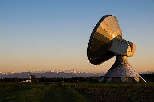 Raisting, Earth Station, Antenna, Zugspitze, Radar