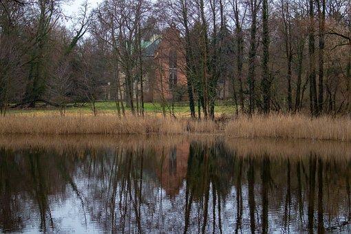 Landscape, Church, Reflection, Architecture, Winter
