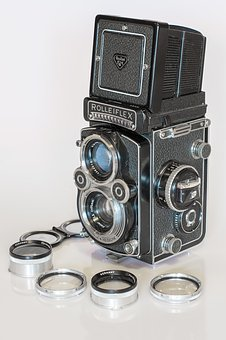 Rolleiflex, Camera, Photography, Photograph, Lens