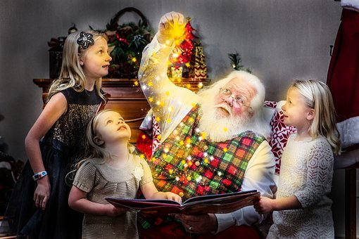 Christmas, Storybook, Santa, Santa Claus, Joy, Holiday