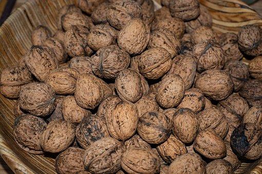 Walnuts, Shell, Bio, Organic Walnuts, Nuts, Food
