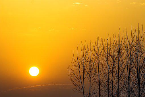 Sunrise, Sunshine, Sky, Sunlight, Nature, Sunset