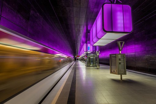 Harbour City, Hamburg, City, Ubahn, Lights Game