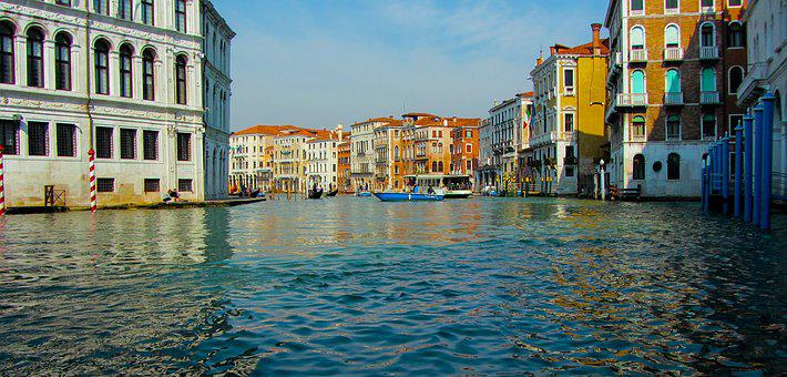 Travel, Holidays, Vacations, Italy, Venice, Waterway