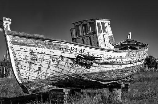 Ship, Old, Vintage, Broken, Abandoned, Shipwreck, Boat