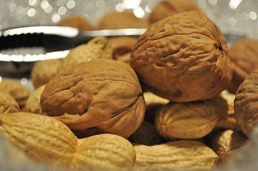 Walnuts, Nuts, Dried Fruit, Food, Walnut, Nutrition