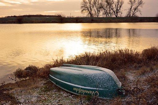 Boat, Rowing Boat, Winter, Winterize, Water, River