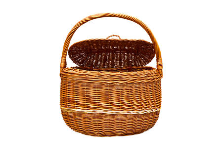 Subject, Basket, Wicker Basket, Weave, Craft, Isolated