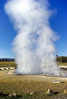 Yellowstone's Ojo Caliente Spring, Hot, Spring