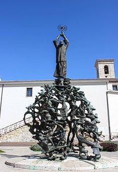 Monument, Sculpture, Bronze, St Pius, Art