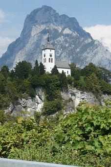 Traunkirchen, Church, Austria, Traunsee, Traunstein