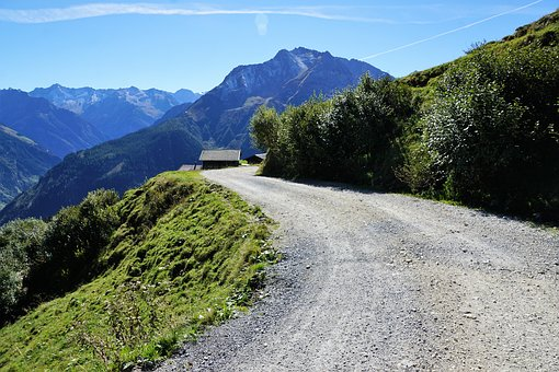 Away, Mountain, Road, Alpine, Nature, Landscape