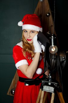 Snow Maiden, New Year's Eve, Studio, Christmas Tree