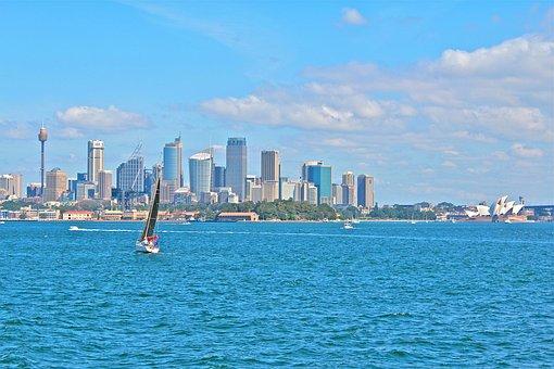 Sydney, Australia, Port, Summer, Water, Boat, City