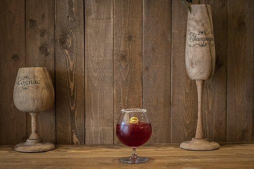 Glass, Spirit, Cocktail, Bar, Style, Stiil, Life, Red