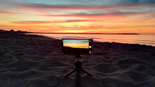 Sunrise, Beach, Coast, Early In The Morning