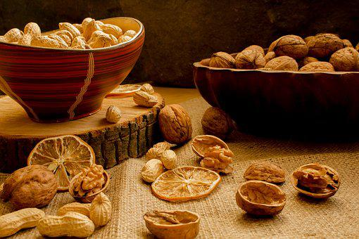 Walnut, Peanuts, Eating, Healthy, Appetizer, Component