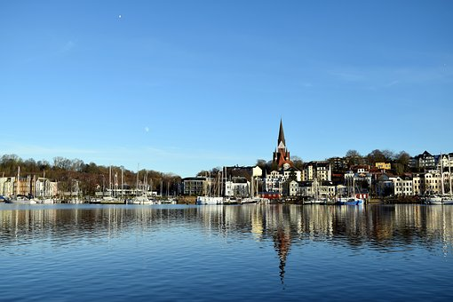 Flensburg, City, Port, Water, Germany, Architecture