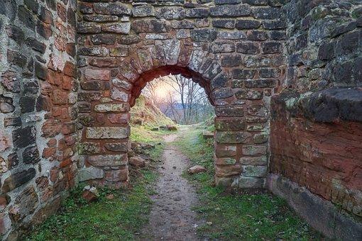 Goal, Sand Stone, Castle, Historically, Portal, Stone