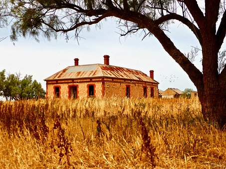Derelict, Homestead, Farm, Abandoned, Ruin, Weathered