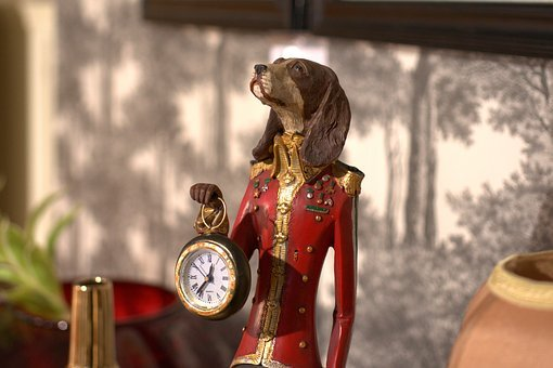 Clock, Figure, Dog, Time, Job, Time Of, Pointer