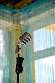 Microphone, Retro, Old, Equipment, Vintage, Rack