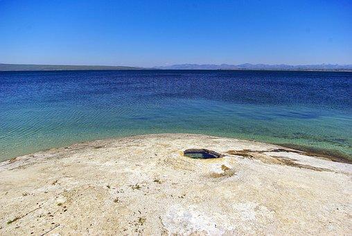 Big Cone, Geyser, Pool, Yellowstone, National, Park
