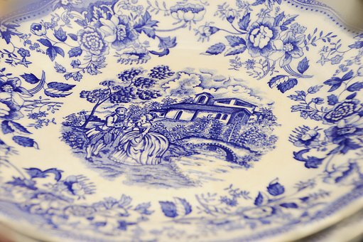 Porcelain, Plate, Dishes, Kitchen, Noble, Style