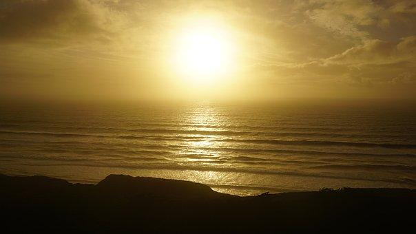 Sunset, West Coast, San Francisco, Pacific Ocean