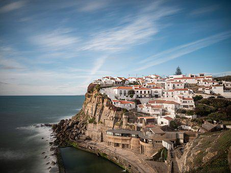 Portugal, Coast, Sea, Ocean, Water, Atlantic, Rock, Sky