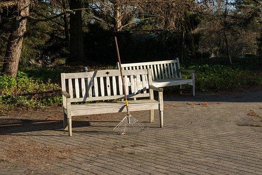 Break, Relaxation, Park Bench, Rest, Winter Light