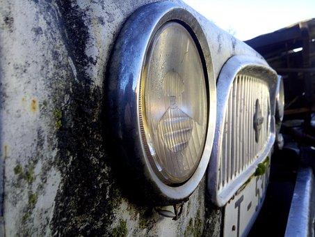 Car, Old, Vintage, Ironer, Lighthouse, Renault 4