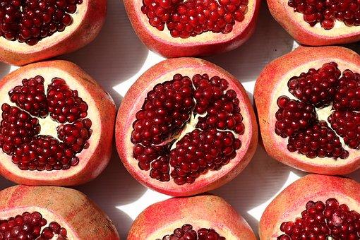 Food, Fruits, Pomegranate, Delicious, Ripe, Fresh