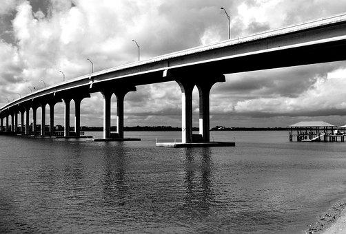Bridge Span, River, Structure, Architecture