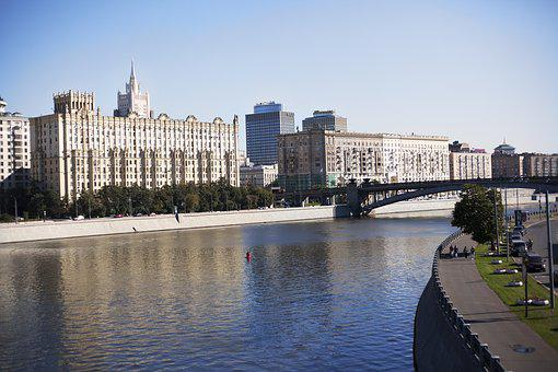 Moscow, Small River, Reflection, River, Water