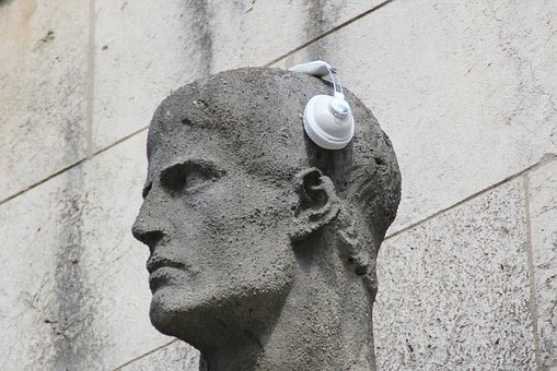 Headphones, Statue, Sculpture, Ear, Listen, Listen To