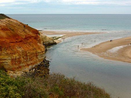 Estuary, River, Coast, Nature, Sea