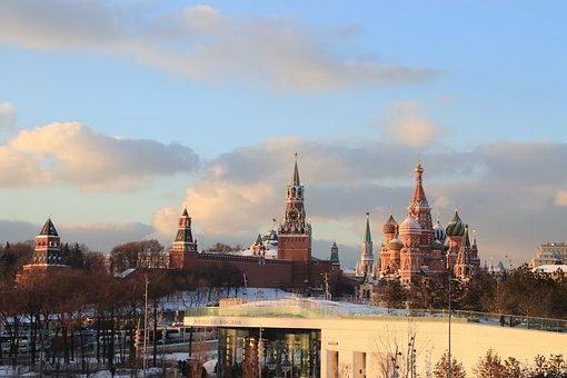 Moscow, Sunset, River, The Kremlin, Charge, Landscape