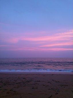 Sea, Sunset, Kerala, Ocean, Water, Beach, Sky, Clouds