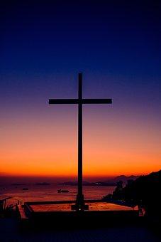 Cross, Sunset, Cemetery, Graveyard, Tomb, Memorial