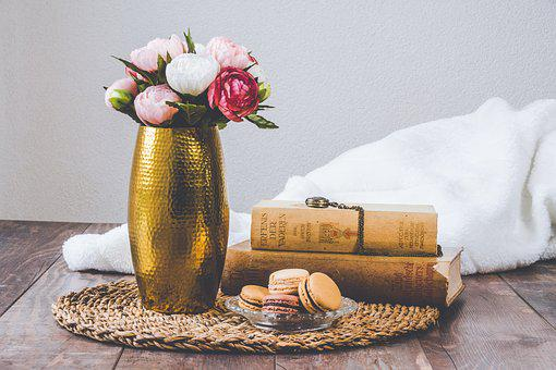 Vintage, Old, Books, Watch, Macarons, Retro, Antique